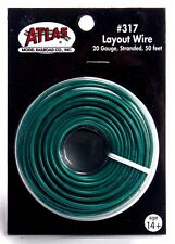Atlas #317 Green 1 Conductor Layout Wire 50 feet 20 gauge stranded * All Scales