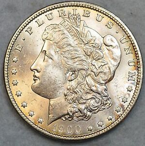 Uncirculated-1900-Morgan-Silver-Dollar-Free-Shipping-UNC-BU-GEM-76119