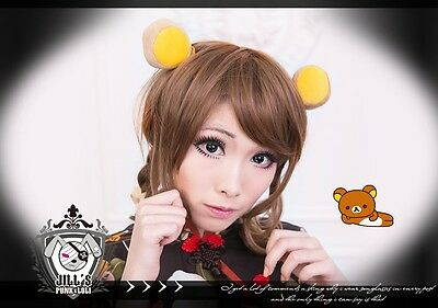 Sanrio lolita fairy spank cartoon fantasy Rilakkuma Honey Bee hair clips
