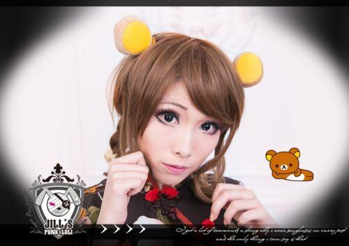 lolita fairy cartoon fantasy Rilakkuma Honey Bee Ball ear hair clips JN6160
