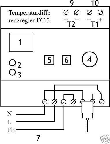 Temperaturdifferenzregler DT-3, Laderegler für für für Speicher dbdf68