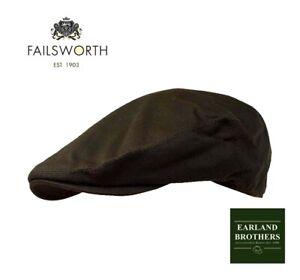 Failsworth-Olive-Green-Wax-Cap-Flat-Cap-Fishing-Cap-Hunting-Country-Shooting