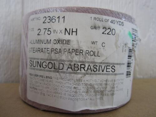 Sungold Abrasives 23611 240 Grit PSA Rolls Stearated Aluminum Oxide Sander Paper