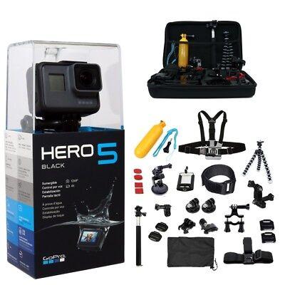 GoPro HERO5 Black Edition + 64GB 45pcs Mega Accessories Kit | Camera Camcorder