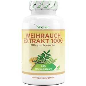 Weihrauch-Extrakt-360-Kapseln-1000-mg-65-Boswelliasaeure-Keine-Zusaetze