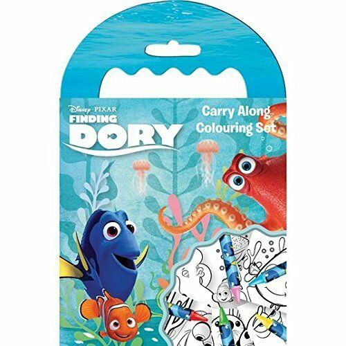 FINDING DORY CARRY ALONG COLOURING SET WITH  CRAYONS