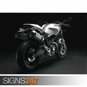 ducati monster 696 high 1671 motorbike poster poster print art a1 a2 a3 a4 ebay. Black Bedroom Furniture Sets. Home Design Ideas