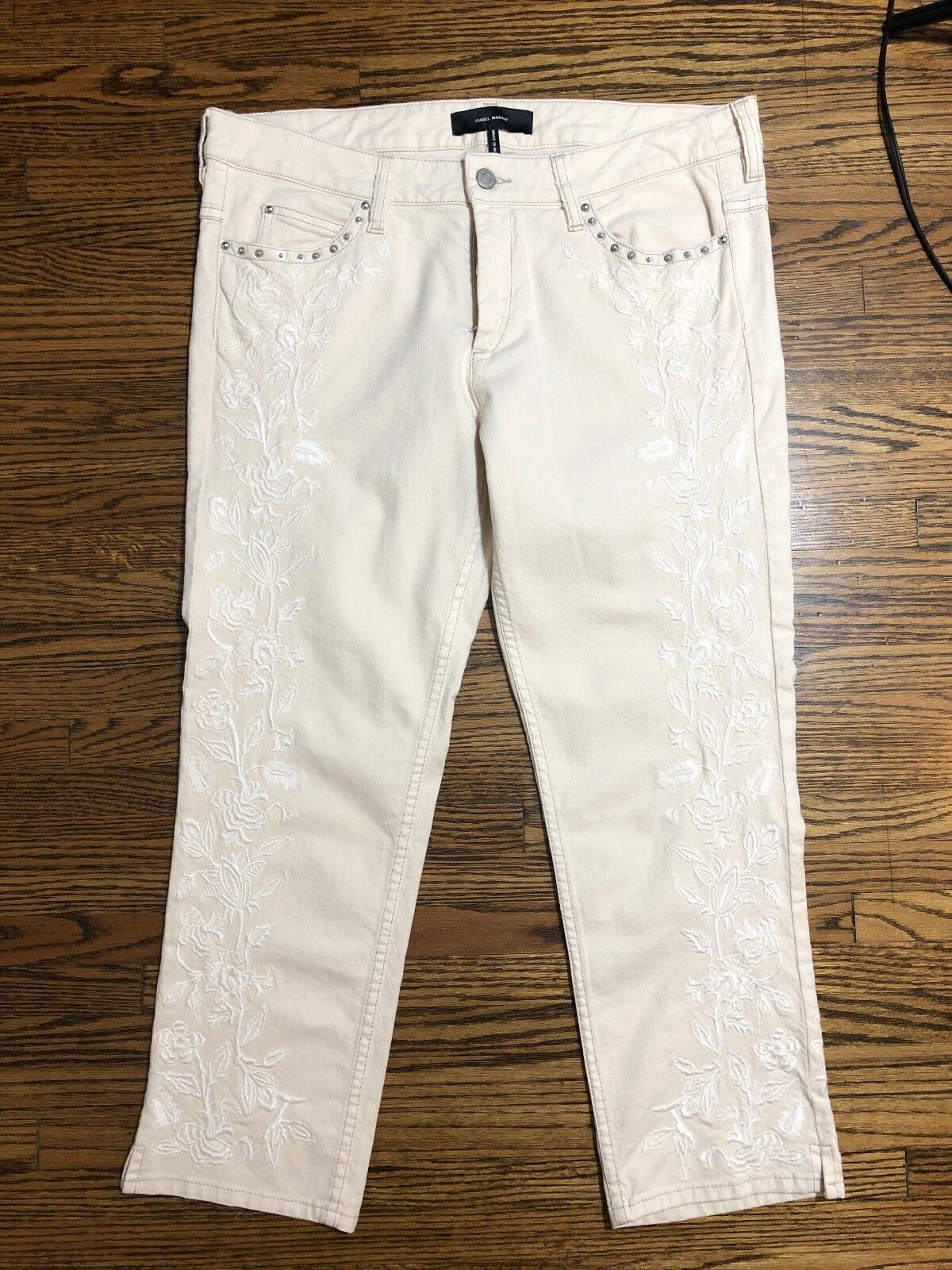 NWOT Isabel Marant Gallo Pant in Pale Straw Size FR 42  US 10  525