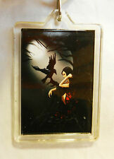 Girl with Raven Keyring / Key Ring / Bag Tag - BNIB