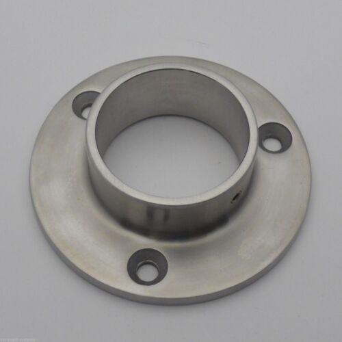 für 42,4mm oder 33,7mm Edelstahl V2A Wandanker rund Rohrsitz innen edelmatt
