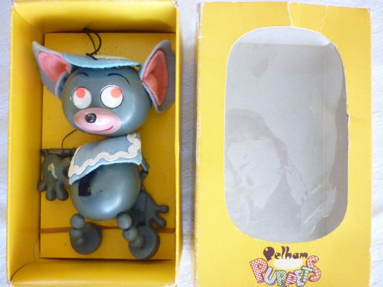 Pelham puppet  boxed  Mouse wobbly googly eyed vintage