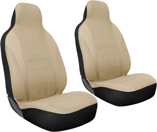 Flat Poly Cloth Fabric Seat Cover Complete Set for Car Truck SUV Van 10 Piece