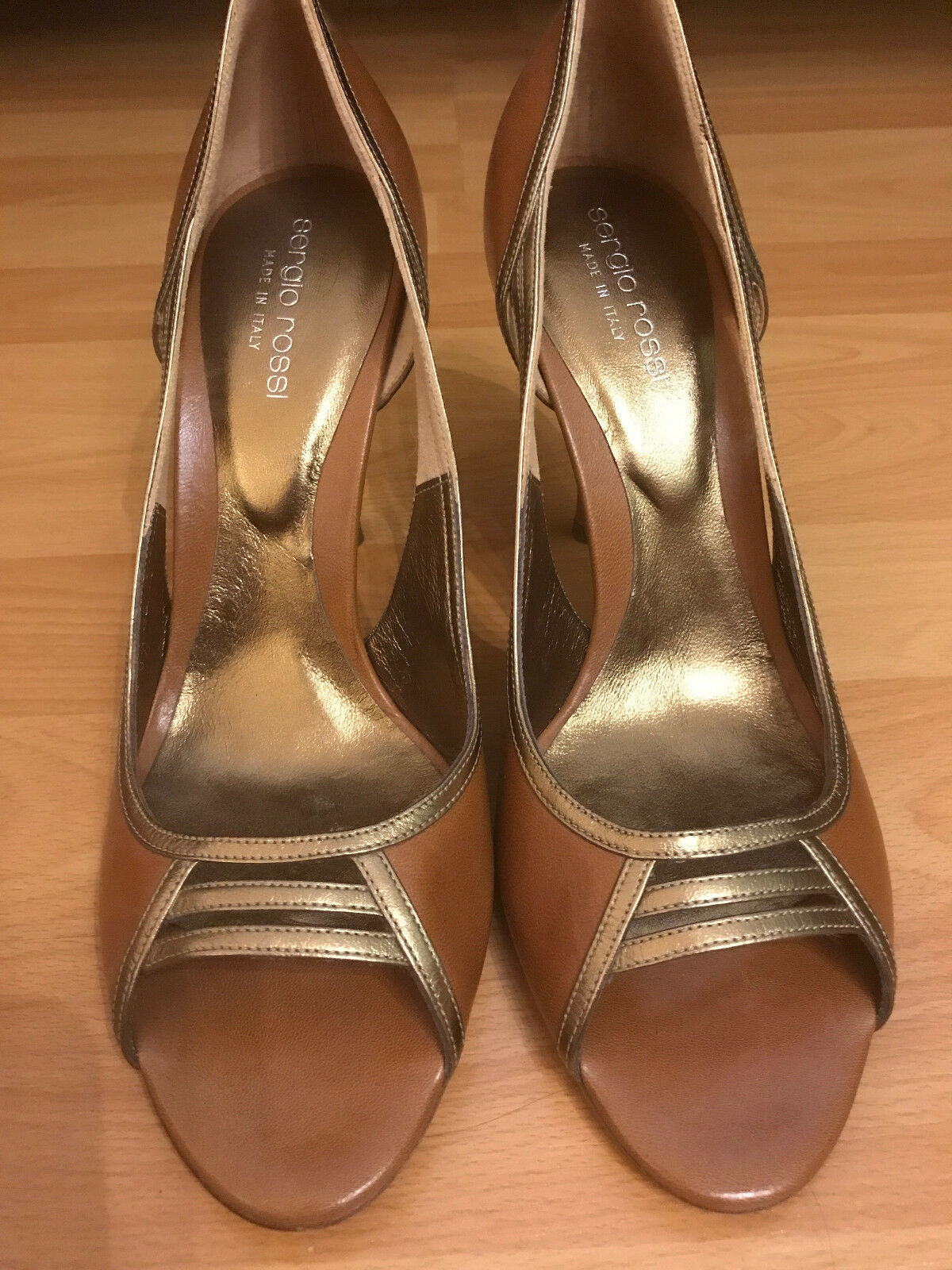 SERGIO ROSSI Womens Leather Authentic Shoes Heels size 38 MONSICH