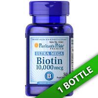 Ultra Mega Biotin 10,000mcg 50 Softgels (d-biotin) By Puritan's Pride