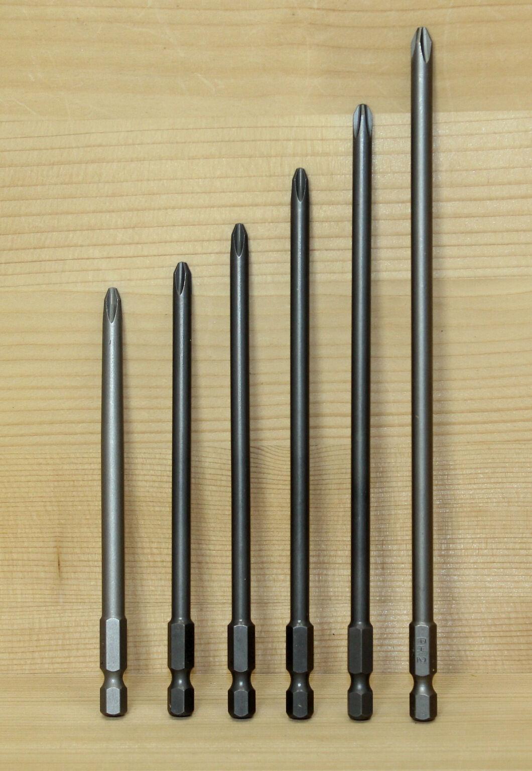 PH 2 Bits für Magazinschrauber 110 - 176 mm Makita   Fein   Hilti   Bosch   Flex
