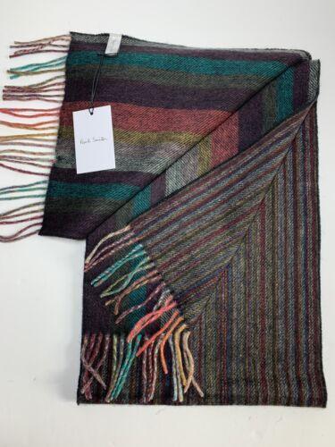 Paul Smith Multi  BNWT Artist Gradient Stripe Scarf Pure Cashmere