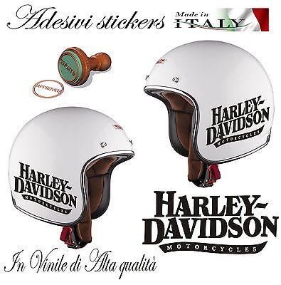 2 Adesivi Stickers Replica Harley Davidson Motorcycles Da Casco Moto
