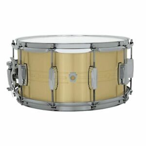 Ludwig-LBR0714-Heirloom-Brass-Snare-Drum-7-034-x-14-034