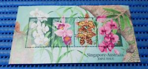 Singapore-Australia-Joint-Issue-Orchid-Miniature-Sheet-Commemorative-Stamp-Issue