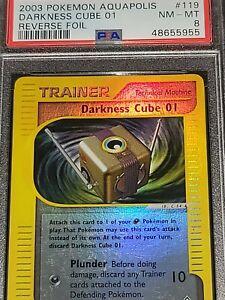 Pokemon PSA 8 Darkness Cube 01 Reverse Holo Aquapolis Set 119/147