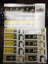 2013 PITTSBURGH PIRATES CARDINALS SET COMPLETE PLAYOFFS TICKET SHEET STRIP