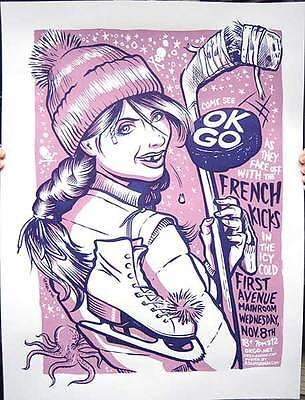 OK GO FRENCH KICKS MINN 2006 SILKSCREEN HOCKEY POSTER