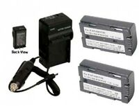 2 Batteries + Charger For Panasonic Ag-dvx100 Ag-dvx100a Ag-dvx100b Ag-dvx100bps