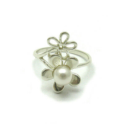STYLISH STERLING SILVER RING SOLID 925 6mm PEARL SIZE 3.5-11 NEW R001299