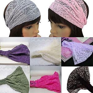 Haarband-Kopftuch-Bandana-Stirnband-Kopfband-Haarschmuck-Spitze-Halstuch-9-Farbe