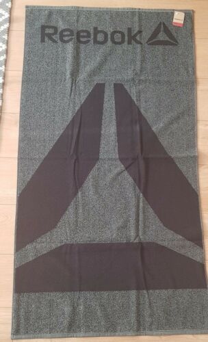 Towel Reebok 73x140 cm Swiming Gym Beach Black Grey 100/% Cotton