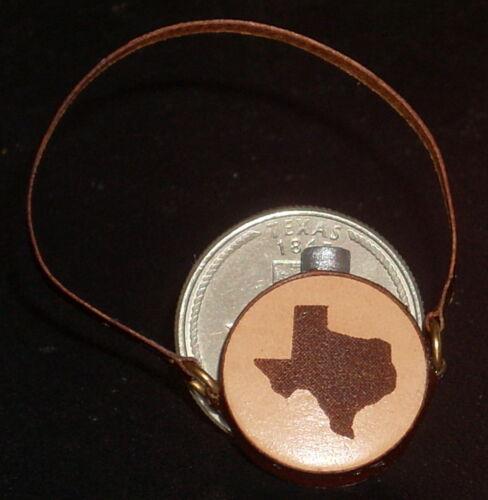 Dollhouse Miniature Cowboy Western Tan Texas Silhouette Leather Canteen 1:12