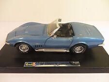 Revell 1969 Chevy Corvette Stingray Convertible Blue 1/18 Scale Very Rare #8691