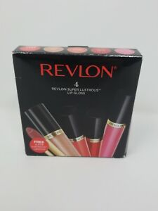 Revlon-Super-Lustrous-Lip-Gloss-Limited-Edition-4-Colors-Bonus-Lipstick