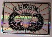 Window Bumper Sticker Military Army Airborne Jump Wings Prismatic 2