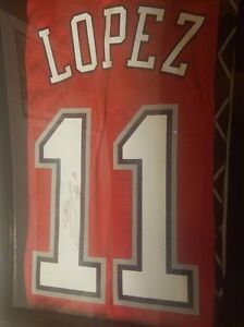 the latest b61c1 87401 Details about brook lopez signed jersey autographed nets nba auto los  angeles lakers brooklyn