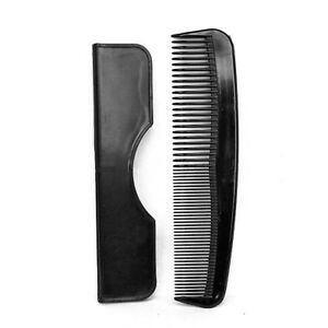 Details about Men's Black Pocket Hair Comb with Case Quality & Strong Gents  Length 5'' – 125mm