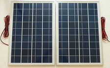 25W x 2 = 50w PV Solar Panel for charging 12v or 24v battery system c/w 6m cable