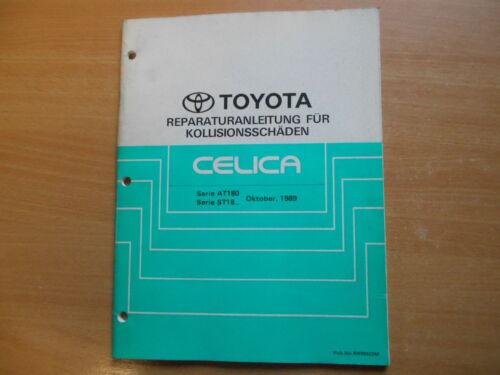 collisione danni TOYOTA CELICA at180 ST 182 185 10.1989 Istruzioni di riparazione F
