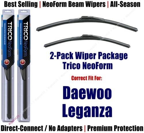 2pk Super-Premium NeoForm Wipers fit 1999-2002 Daewoo Leganza 16220//190