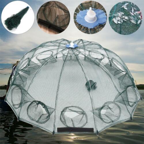Faltbare Krabbengarnelen-Netz-Falle werfen Dip Cage-Fischköder-Fisch-Minnow-Panz
