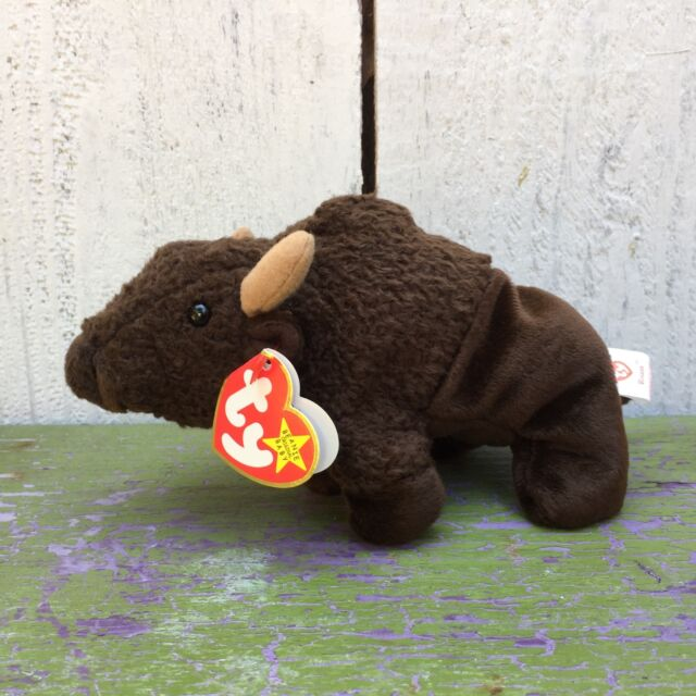 Vintage Ty The Beanie Babies Collection - Roam Buffalo 1998 Retired