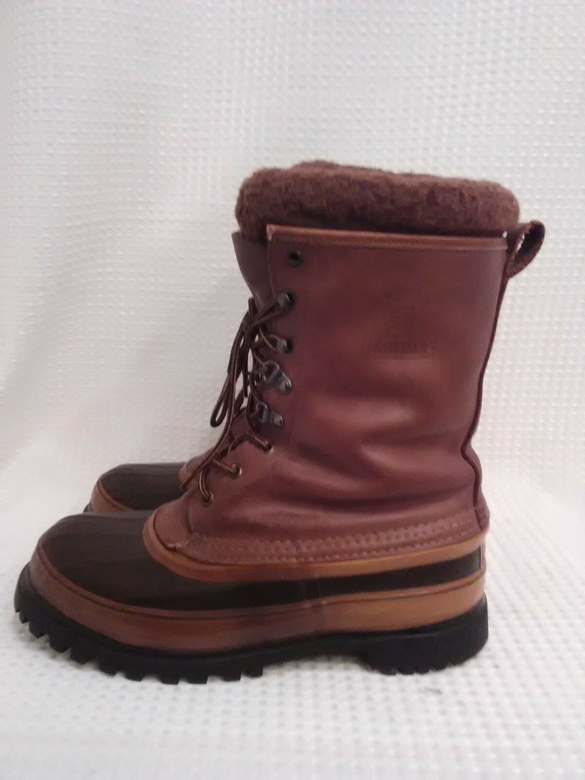 Lacrosse Anaconda II Rubber & Leather Insulated Hunting Boots Mens 8 USA Made.