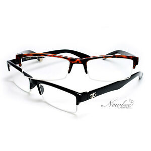 a89eb72106b Half Rim Reading Glasses Stylish and Sleek Unisex Readers Half Frame ...
