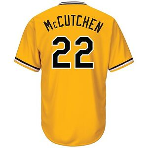 the best attitude 0faf2 e6014 Details about Andrew McCutchen Pittsburgh Pirates Gold Cool Base Jersey  Youth L