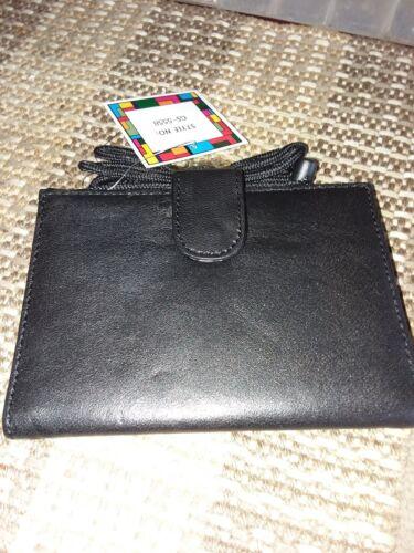 ajustable bandolera Estuches de con 96 765032055588 de Bandolera negro Nuevo viaje cuero tela de 2 Pxq5v5Aw1