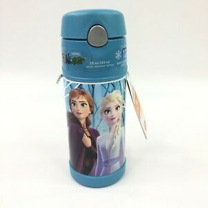 Frozen-2-Thermos-Funtainer-ELSA-ANNA-OLAF-12oz-Stainless-Steel-BPA-Free-NEW