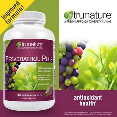 Trunature Resveratrol Plus 140 Vegetarian Capsules Ebay