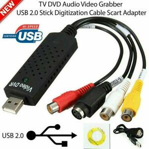 VHS-to-digital-converter-USB-2-0-Audio-Video-Capture-pour-Windows-Cards-A0R9