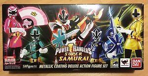 Bandai Tamashii S.h.   Figuarts Power Rangers Ensemble Super Samurai Métallique Sdcc 2013