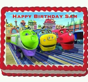 Chuggington Birthday Party Edible Icing Cake Topper 14 frosting
